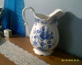 A Big Blue Danube Japanese Ceramic Pitcher/Milk Jug