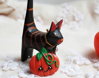 Pumpkin brooch Halloween jewelry Jack-o-lantern Terror brooch Halloween party Pumpkin pin Halloween gifts Halloween clothe decor