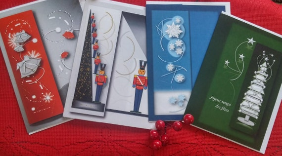 4 cards of holiday Christmas/discounts on 4 cards with Christmas/greeting of greetings/Christmas new year bookmarks / Christmas gift for holidays/bookmarks