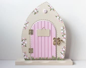 Personalised Fairy Door - Fairy Door, Pink Fairy Door, Handpainted Fairy Door, Fairies, Fairys.