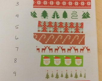 Christmas Washi sample 24 inches - choose your style