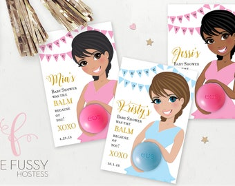 Wonderful Baby Shower Favors EOS Lip Balm, Printable Favor, Baby Bump Pregnant Mother  To Be