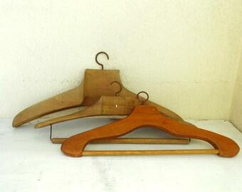 retro wood hangers closet clothes hangers wooden coat hangers set of 3