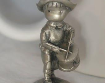 """J.W. Anglund """"Little Drummer Boy"""" pewter"""