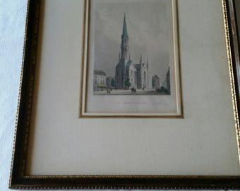 antique st petri kirche ( berlin ) framed art print  - saint peters church germany - catholic marshall fields strack sagert religious photo
