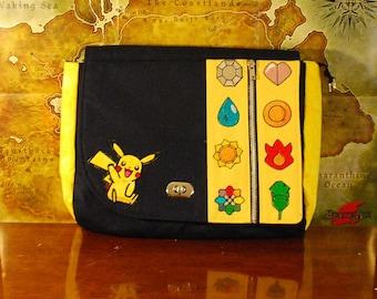 Finished Product! Pikachu Pokemon Inspired Satchel (Free Shipping)