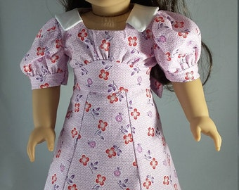 """18"""" doll clothes - 30s Sleuth dress made in feedsack fabrics"""