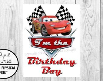 Cars Birthday Iron On Shirt Transfer - Lightning McQueen tshirt or clip art printable - Instant Download - I'm the Birthday Boy