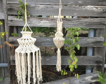 Macrame Lanterns, hanging Lanterns, Hanging Decor, Decor, Wedding Decor, Boho Decor, Boho Wedding, Boho Hens