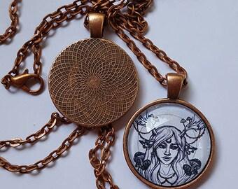 Handmade Fawn Girl Necklace Pendant