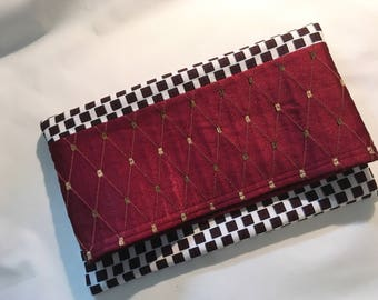 Foldover Clutch, handmade in Portugal, African fabric