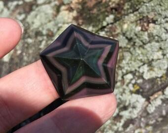 Rainbow Obsidian Star - Mexico