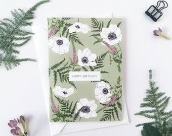 Happy Birthday - A6 Greeting Card - 'Wild Meadow' Collection