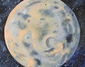 Orange Planet Painting