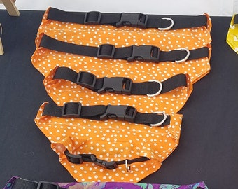 Fun Orange with White Polkadot Dog Bandana
