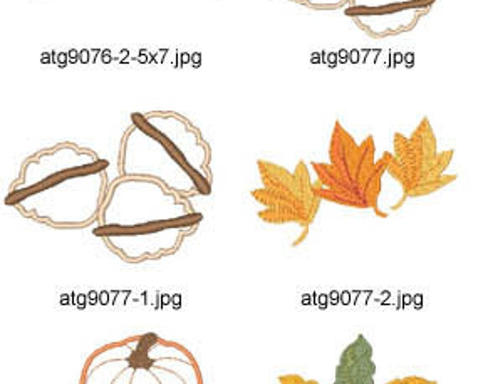 Pumpkins-and-Leaves-5x7 ( 22 Machine Embroidery Designs from ATW ) XYZ17H