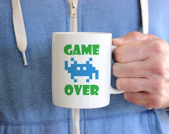 Game Over Mug Coffee Humor Mug Funny Mug Gift - Retro Gaming Mug Video Game Mug - Gift for Him Gift for Her Gamer Gift Cute Mug Minion Gift