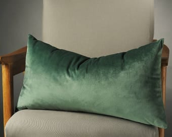 Green Pillow, Green Pillows, Green Cushion, Green Pillow Cover, Green Decorative Pillow, Green Silk Velvet Pillow, Green Cushions, Pillows