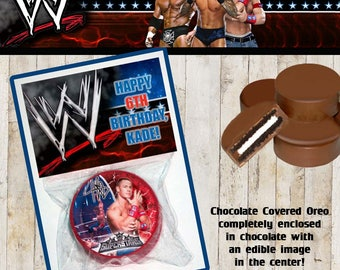 WWE Cena Chocolate Covered Oreo Birthday Party Favor