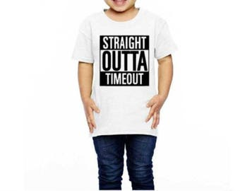 Straight Outta Timeout Toddler shirt | Funny shirt Boy timeout shirt | Straight Outta Time Straight Out of Timeout | Timeout Toddler Shirt