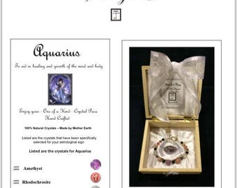 Crystal Aquarius Zodiac Bracelet