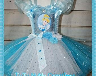 Handmade Girls Cinderella Disney Princess Tutu Dress