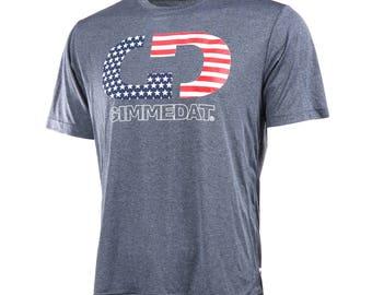 GIMMEDAT Stars & Stripes Logo Performance Tee, Short Sleeve Performance T-Shirt - Free Shipping!