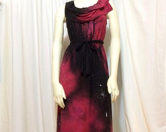 Women's Galaxy Dress, Extra Small, Pencil Dress with belt