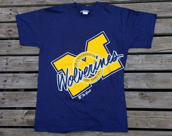 Vintage 90's University of Michigan Wolverines t-shirt Medium Made in Canada by The Game