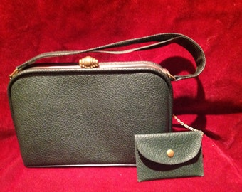 1940s / 50s Vintage Ladies Handbag / Purse / with a matching small coin purse
