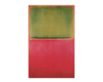 Mark Rothko Green Red on Orange