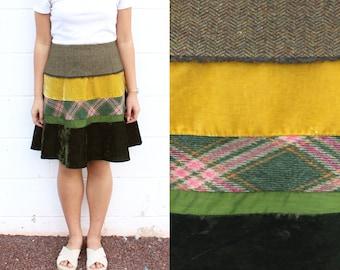 Velvet Tweed Skirt