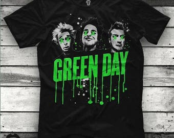 Green Day Logo Unisex Black T Shirt Graphic Tee Green Day Men Shirt Green Day Girl Shirt Size S M L XL 2XL