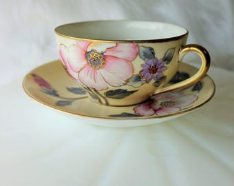 Noritake Hand Painted Tea Cup and Saucer