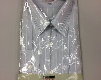 80's Men's Westchester Classics Button Up Shirt with Long Sleeves | Size 16 1/2 x 32-33  | Deadstock | New in Package | Bradlees