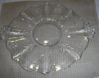 vintage Clear glass serving tray