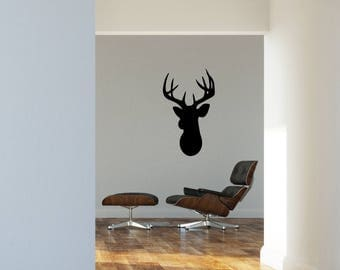 Vinyl wall sticker. decal. sticker • Moose head