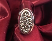 Lois Hill Sterling Silver Hammered Scribe Ring