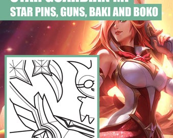 Star Guardian - Miss Fortune - Guns - Accessoires - Blueprint - Pattern - Vector - PDF file - League of Legends - Cosplay
