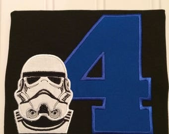 Storm Trooper Birthday Shirt - Storm Trooper shirt - Star Wars birthday shirt - Custom birthday shirt