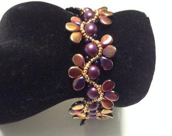 Lesleigh Bead Weaving Bracelet Tutorial
