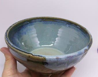 Small blue and green bowl