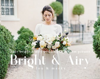 240 Presets Bright & Airy Wedding Lightroom Kit Professional Wedding Lightroom Presets for Bright Wedding Edits in Adobe Lightroom