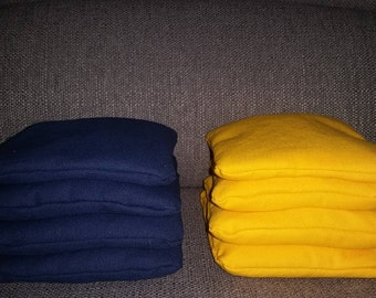 Corn Hole Bags- Navy and Yellow