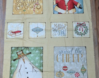 Christmas Whimsy-Merry Christmas Panel-Cotton Fabric from Red Rooster Fabrics
