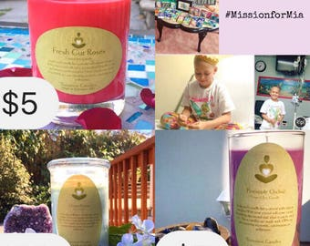 Benefit Raffle - Mission for Mia Donation 21 oz. Candle