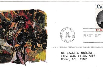 Vintage, 1st Day of Issue, Commemoration of Colorado, the Centennial State, 1977 Vintage USPS, Postmaster Collectible