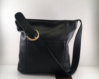 Coach Bag / Vintage Coach Bag / Coach Bucket Bag / Coach Purse Black / Coach HOBO Bag / Coach Bag 9804