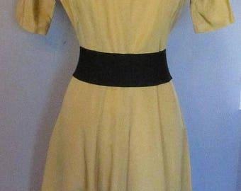 Mid-Summer Sale 20%OFF Yellow Taffeta 50s Circle Dress