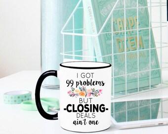 Closing Deals Mug, Real Estate Agent Mug, Real Estate Agent Gift, Gift for Real Estate Agent, Sales Gift, Closing Gift, House closing